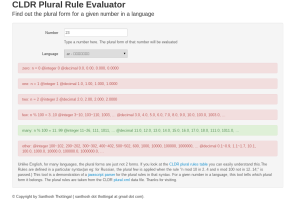 CLDR Plural Rule Evaluator