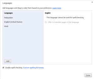 Chrome accept language preference